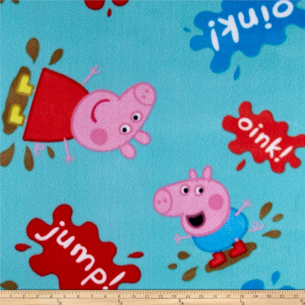 Entertainment One Peppa Pig Muddy Puddles Fleece Teal