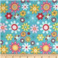 Riley Blake Girl Crazy Flannel Floral Blue