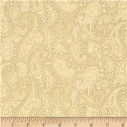 Baroque 108' Wide Quilt Backing Paisley Tan