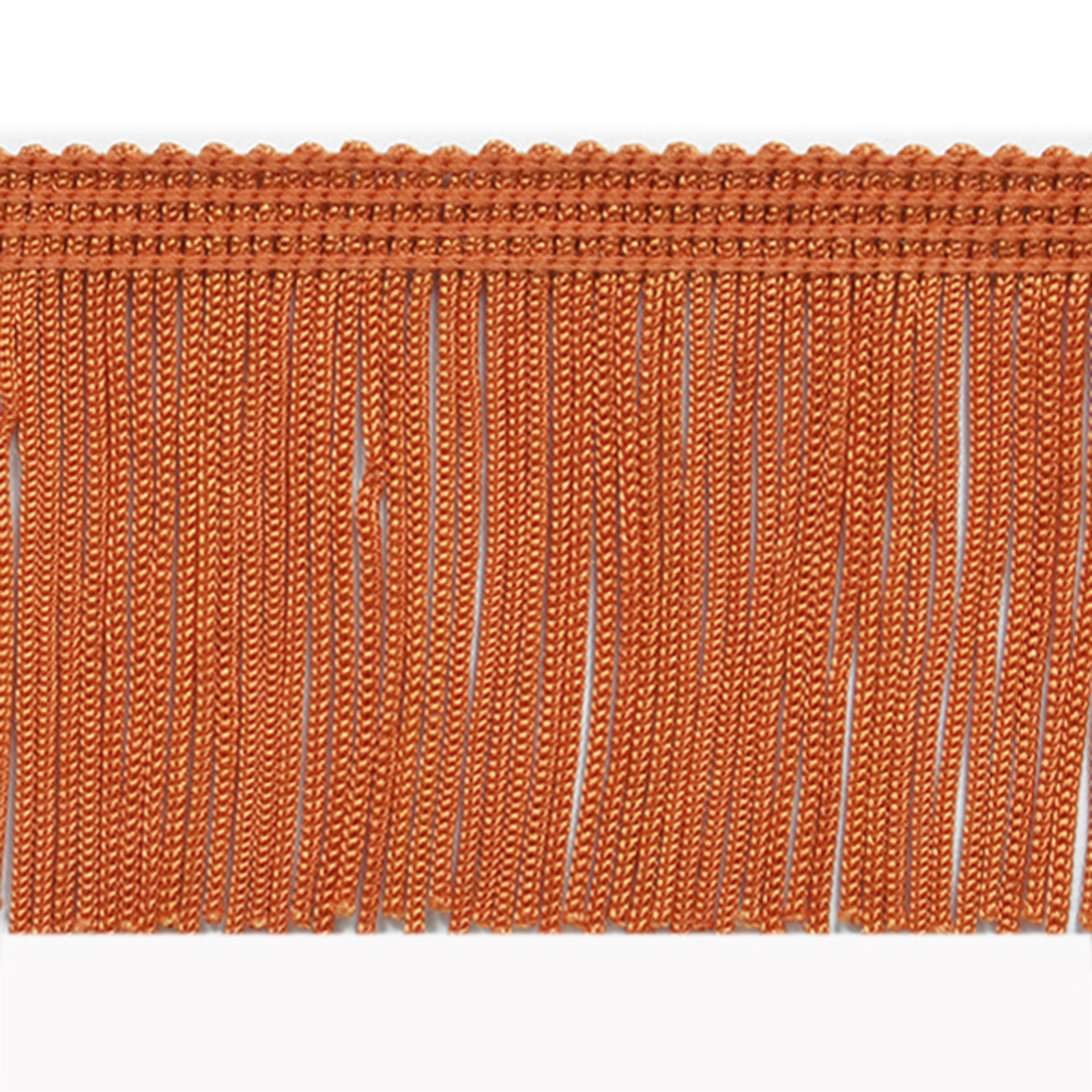 2'' Chainette Fringe Trim Orange