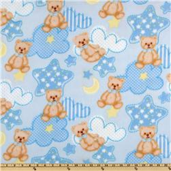 WinterFleece Baby Teddy Blue Fabric