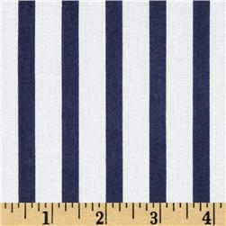 Broadcloth Stripes Navy/White