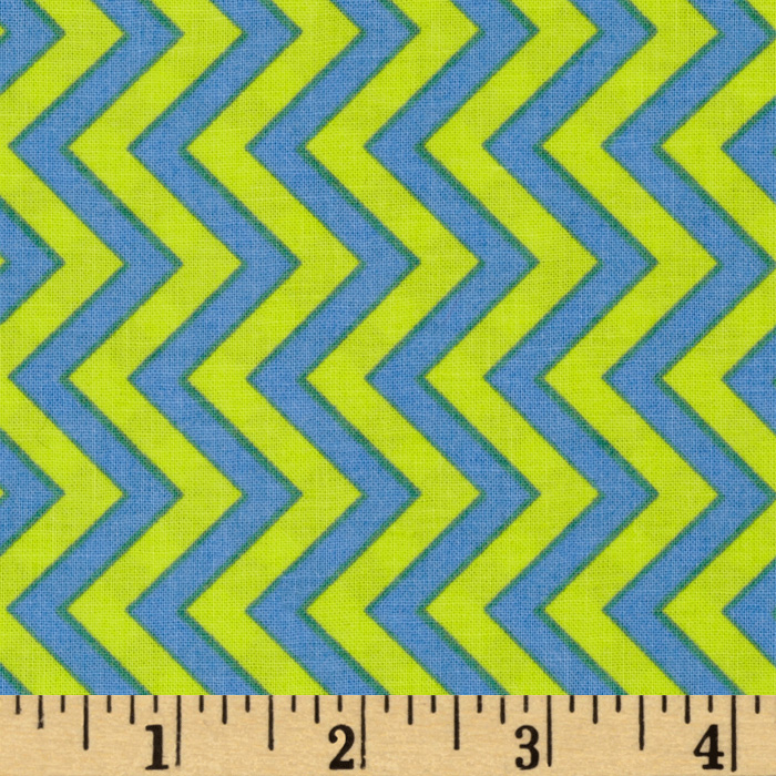 Michael Miller Retro Tire Treads Chevron Wave Fabric