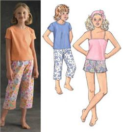 Kwik Sew Girls' Sleepwear Pattern