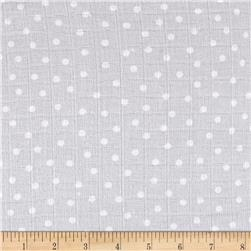 Gauze & Effect Double Gauze Polka Dot Light Gray