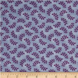 Americana Collection Tossed Fern Blue/Purple Fabric