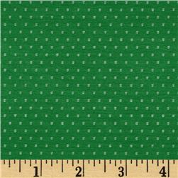 Rayon Blend Woven Dot Jersey Knit Green