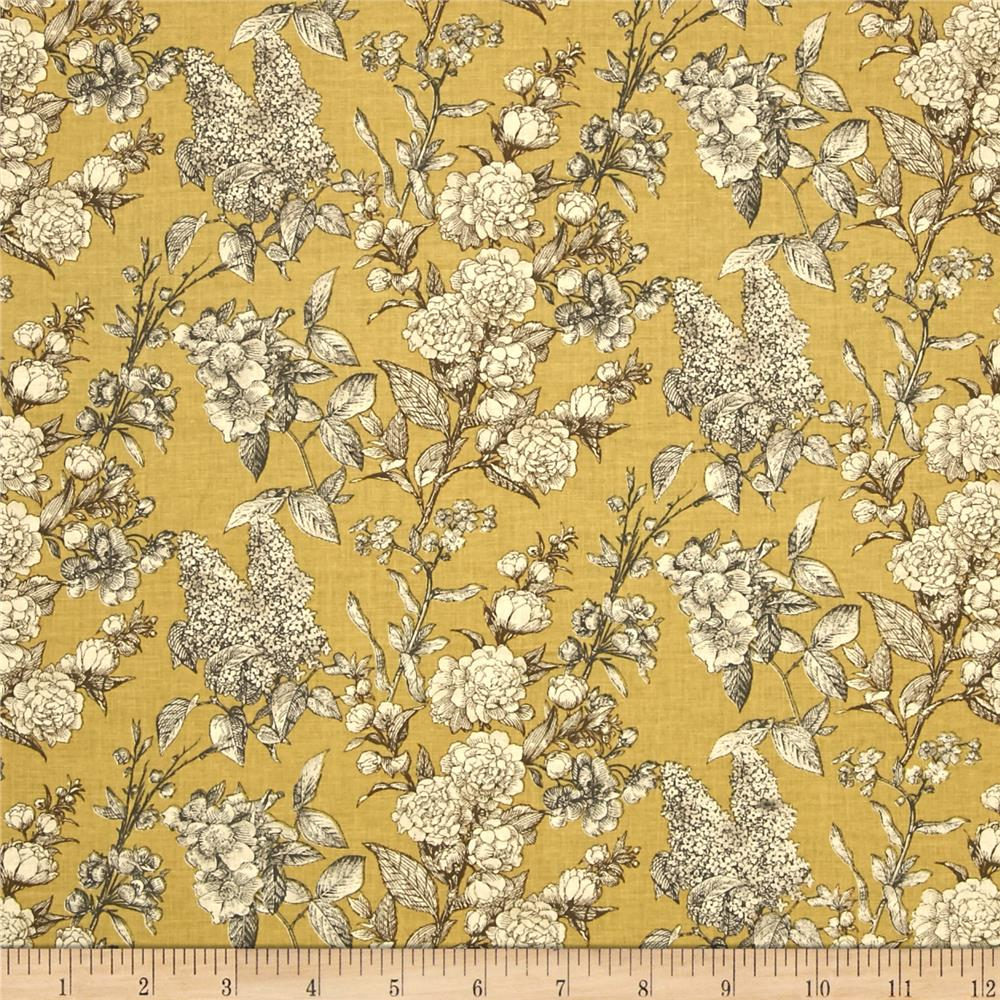 Sew Vintage Etched Flower Garden Honey