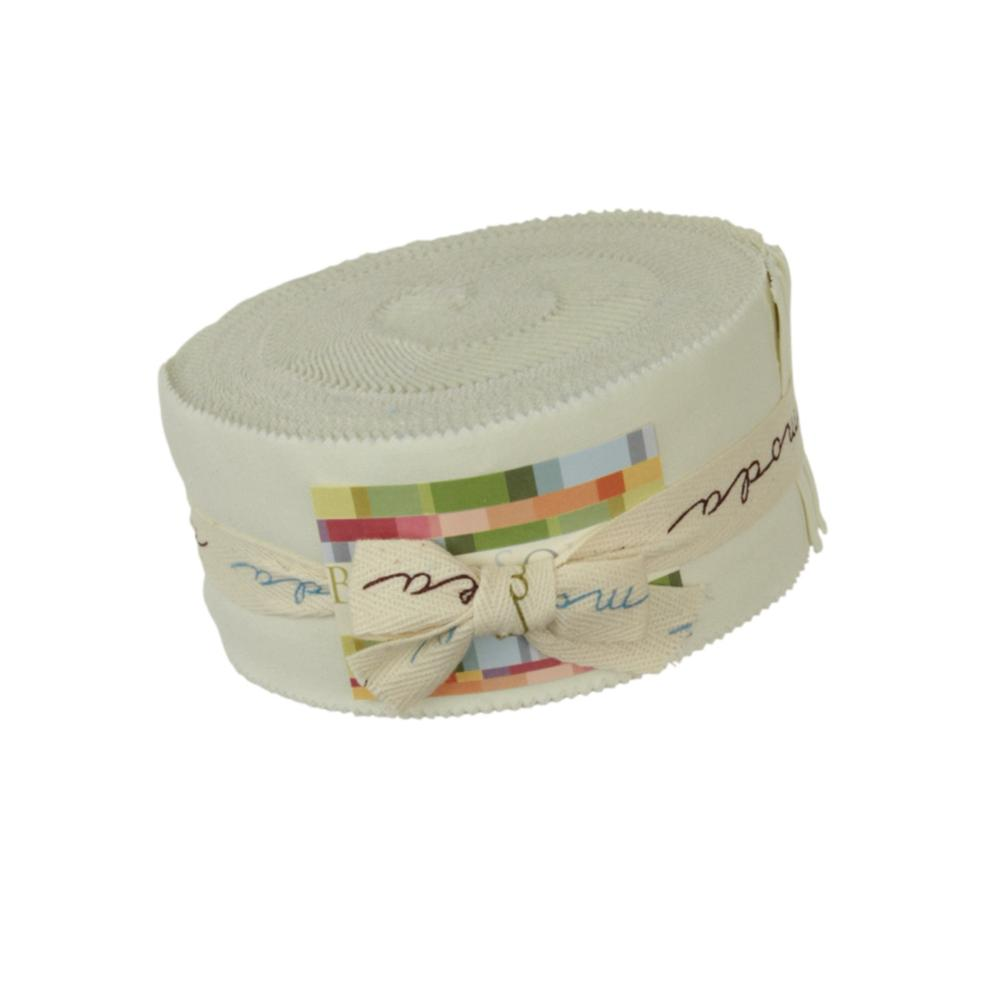 Moda New Bella Solids 2 1/2'' Jelly Roll Porcelain