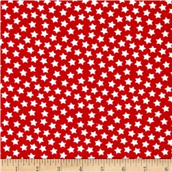 Camelot Flannel Stars Red