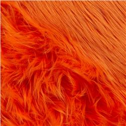 Faux Fur Luxury Shag Orange