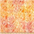 Lonni Rossi Batiks Fiddleheads Orange