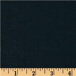 Designer Herringbone Suiting Navy