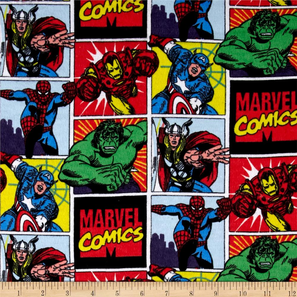Marvel Retro Comics Flannel Character Badge Multi