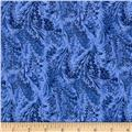 Timeless Treasures Blue Winter Marble Frost Denim