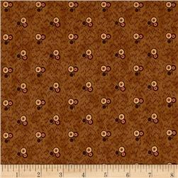 Jo Morton Reflections Three Flower Cluster Medium Brown