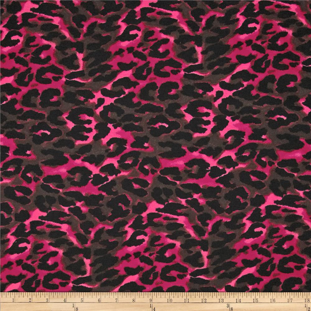 French Terry Knit Jaguar Pink