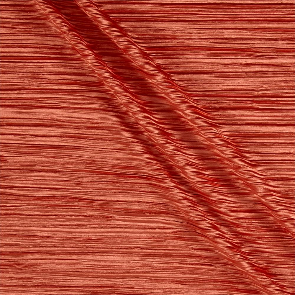 Pleated Bodre Knit Solid Terracotta