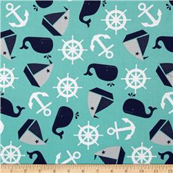 Nautical Treasure Tossed Nautical Dark Turquoise