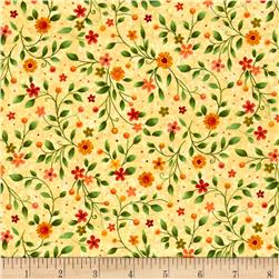 Bird Song Floral Yellow/Multi