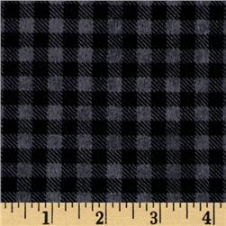 Mountain Lodge Flannel Buffalo Plaid Charcoal/Mist