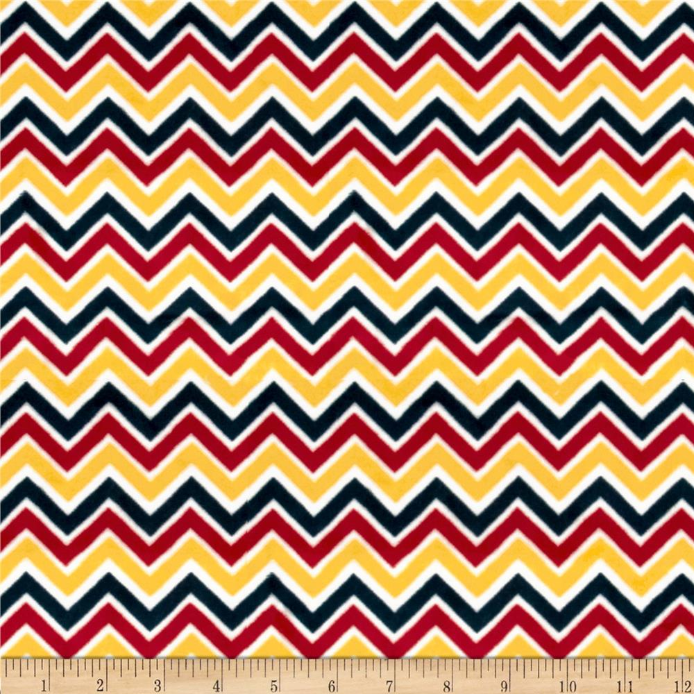 Minky Cuddle Classic Mini Zig Zag Red/Gold/Slate