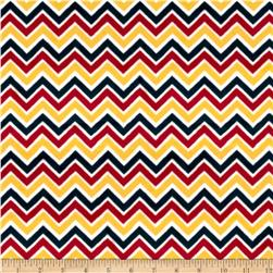 Minky Cuddle Classic Mini Zig Zag Red/Sunshine/Slate