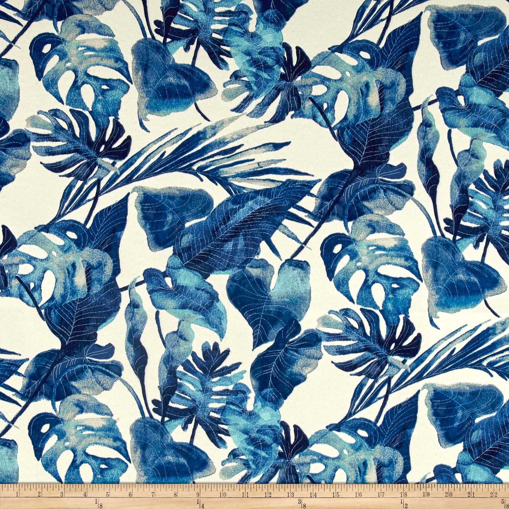 Tommy Bahama Indoor/Outdoor Inky Palms Indigo Fabric by Waverly in USA