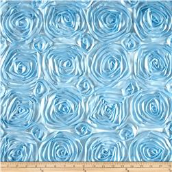 Wedding Rosette Satin Baby Blue