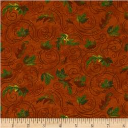 Moda Turning Leaves Turning Leaves Burnt Orange Fabric