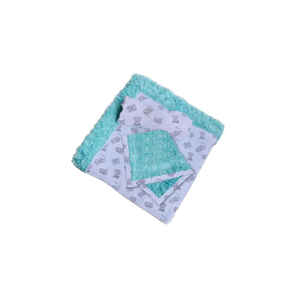 Shannon Patty Cakes Swaddle Gift Double Gauze Minky Set Kit Butter Mints by Shannon in USA