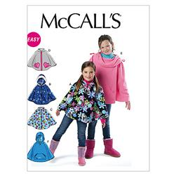 McCall's Children's/Girls' Ponchos Pattern M6431 Size CX0