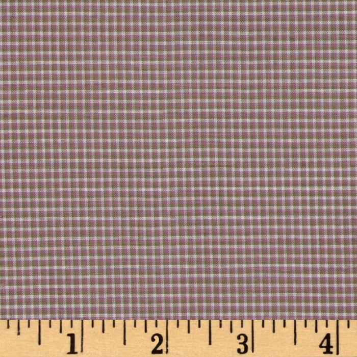 Light Weight Cotton Yarn Dyed Shirting Checks Purple/Sage