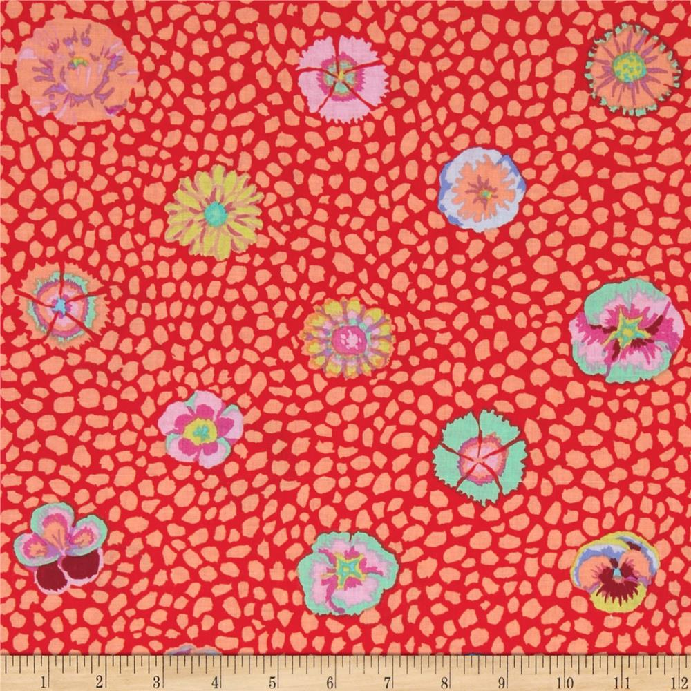 Kaffe fassett collective guinea flower apricot discount for Where to get fabric