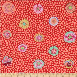 Kaffe Fassett Collective Guinea Flower Apricot Fabric