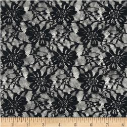 Stretch Lace Flowers Black