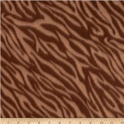 Fleece Print Tiger Brown