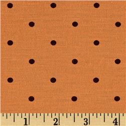 Stretch Poly/Rayon Jersey Knit Dots Orange/Brown
