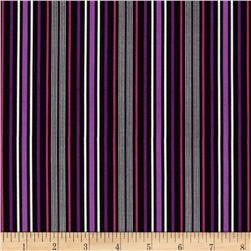 Amethyst Stripe Black/Purple