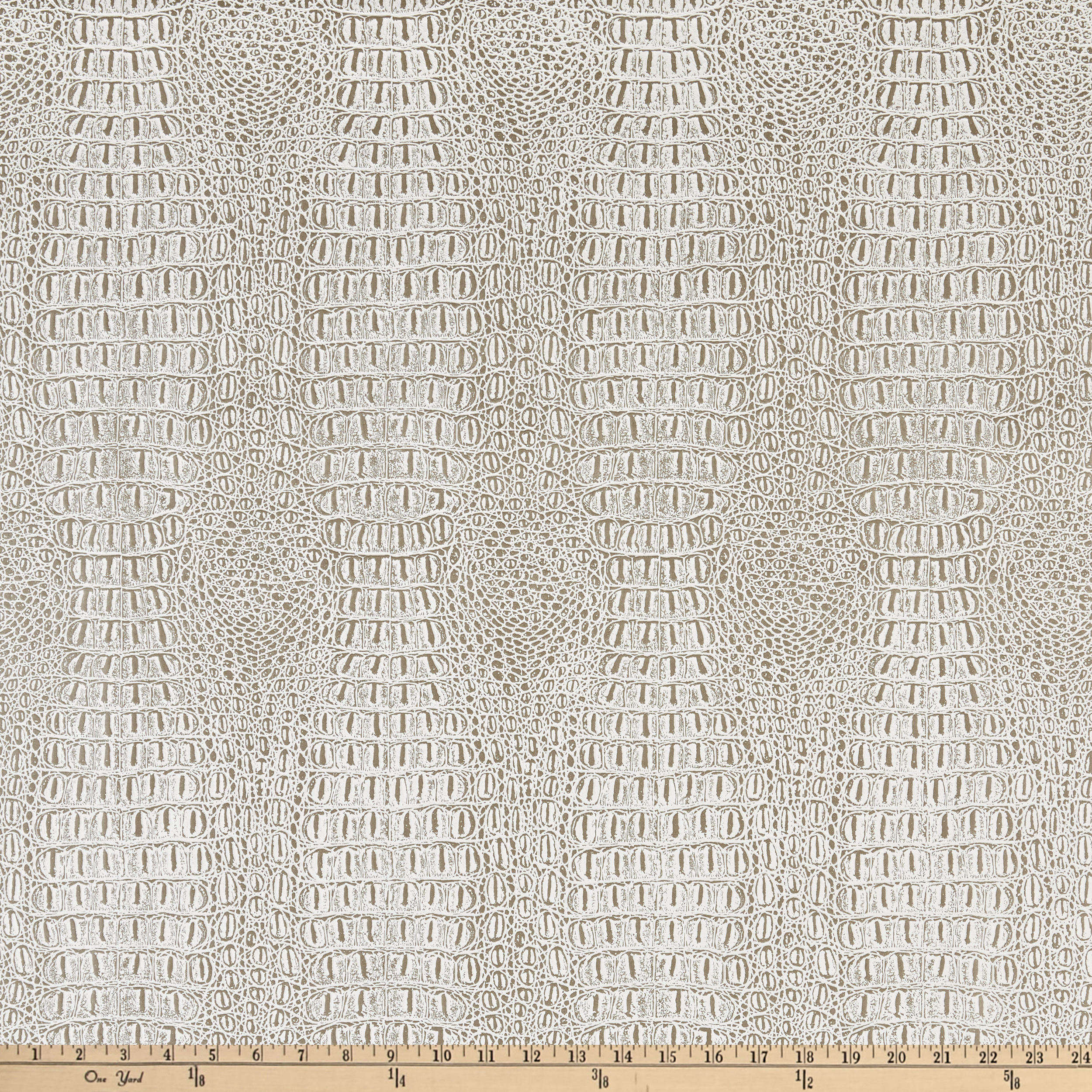 Faux Leather Gator Palamino Fabric
