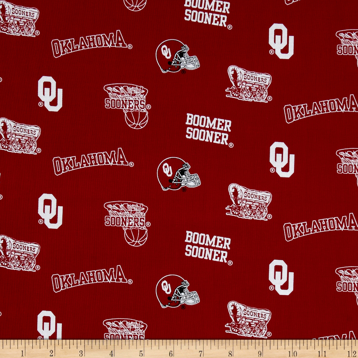 Collegiate Cotton Broadcloth University of Oklahoma Fabric