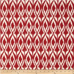 Sundial Indoor/Outdoor Chevron Ikat Red