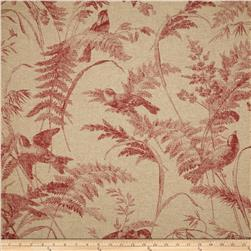 Lacefield Bird Toile Red