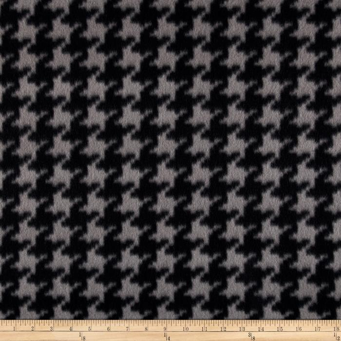 Fleece Houndstooth Charcoal