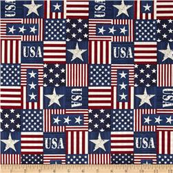 Timeless Treasures USA Patchwork USA