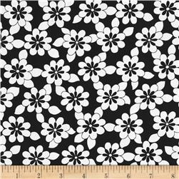 Jet Setter Daisy Chain Black Fabric