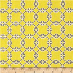 Gray Matters More Medallions Yellow Fabric