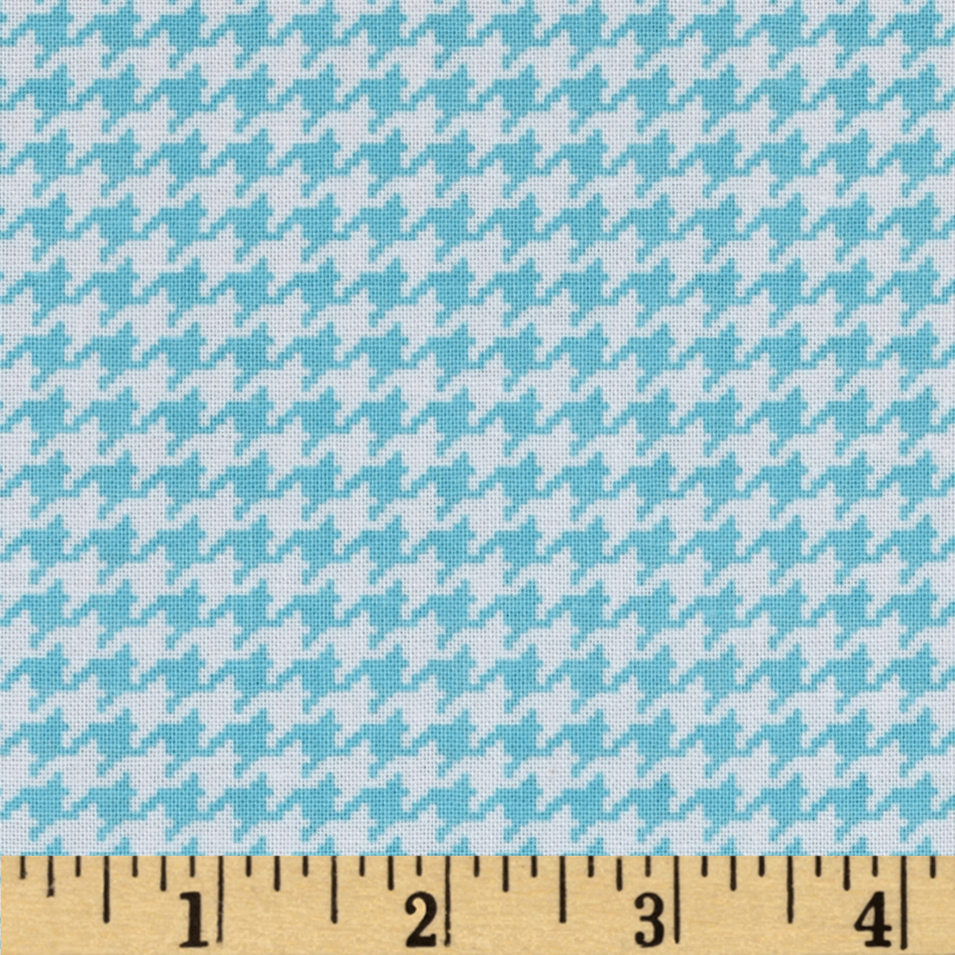 Michael Miller Tiny Houndstooth Aqua Fabric