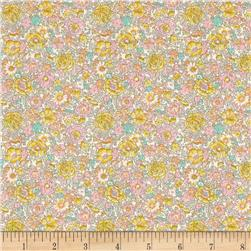 Liberty of London Classic Tana Lawn Amelie Roses Yellow Pink