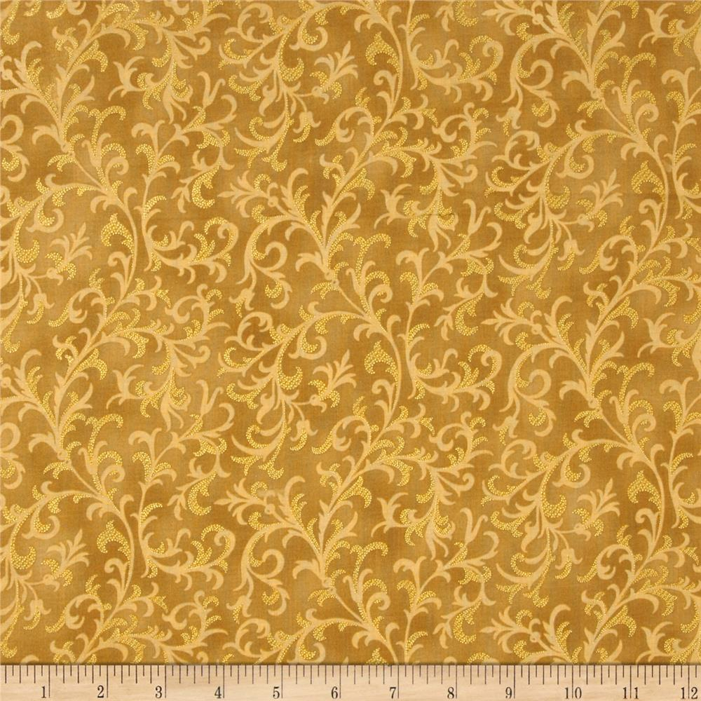 Pear Tree Greetings Metallic Foulard Gold/Gold